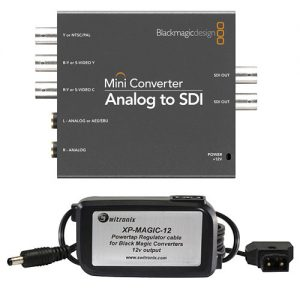 Blackmagic Design Analog to SDI Converter with P-Tap Adapter Cable Kit