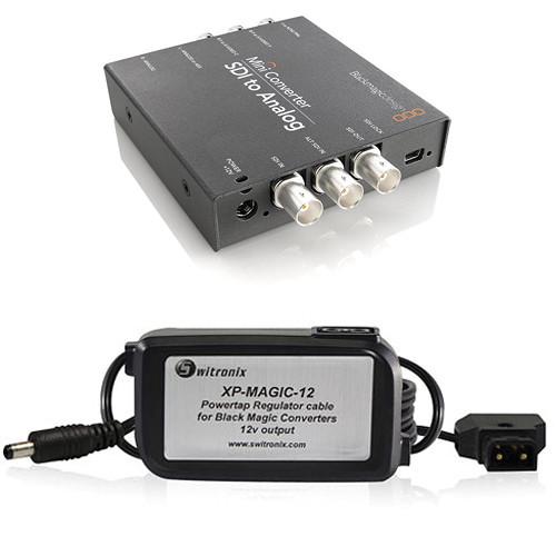 Blackmagic Design Mini Converter Sdi To Analog W Switronix Powertap Converter Cable Kit Technostore