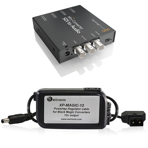 Blackmagic Design Mini Converter Sdi To Audio W Switronix Powertap Converter Cable Kit Technostore