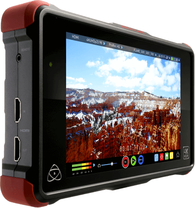 "Atomos Ninja Flame 7"" HDMI recorder up to 4K30p 10bit HDR daylight viewable 1500 nit"