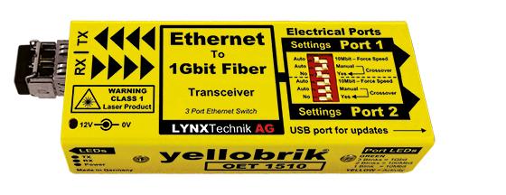 OET 1510 MM (multimode) Ethernet to Fiber Transceiver (Switch)