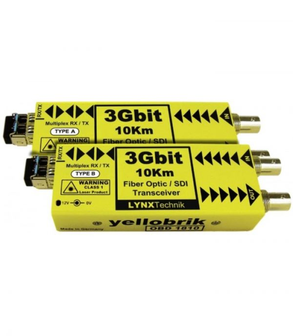 ODB 1810 LC 2 3Gbit SDI Bidirectional Fiber Transceiver - 10km (PAIR - A and B version supplied) - Fiber LC connectors