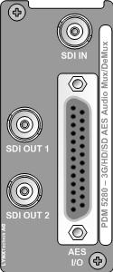 PDM 5280 D 3G/HD/SD 16 Channel AES Audio Embedder / De-embedder 3