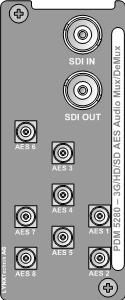 PDM 5280 U 3G/HD/SD 16 Channel AES Audio Embedder / De-embedder 4