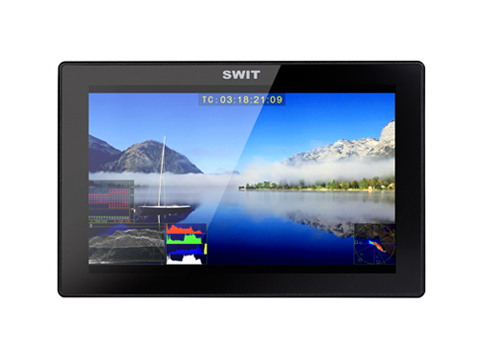 SWIT S-1073F 7-inch FHD Waveform LCD Monitor with S-7006S V-mount battery plate