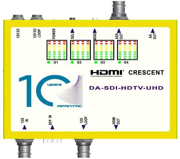 Apantac DA-SDI-HDTV-UHD 12G SDI to HDMI 2.0 Converter